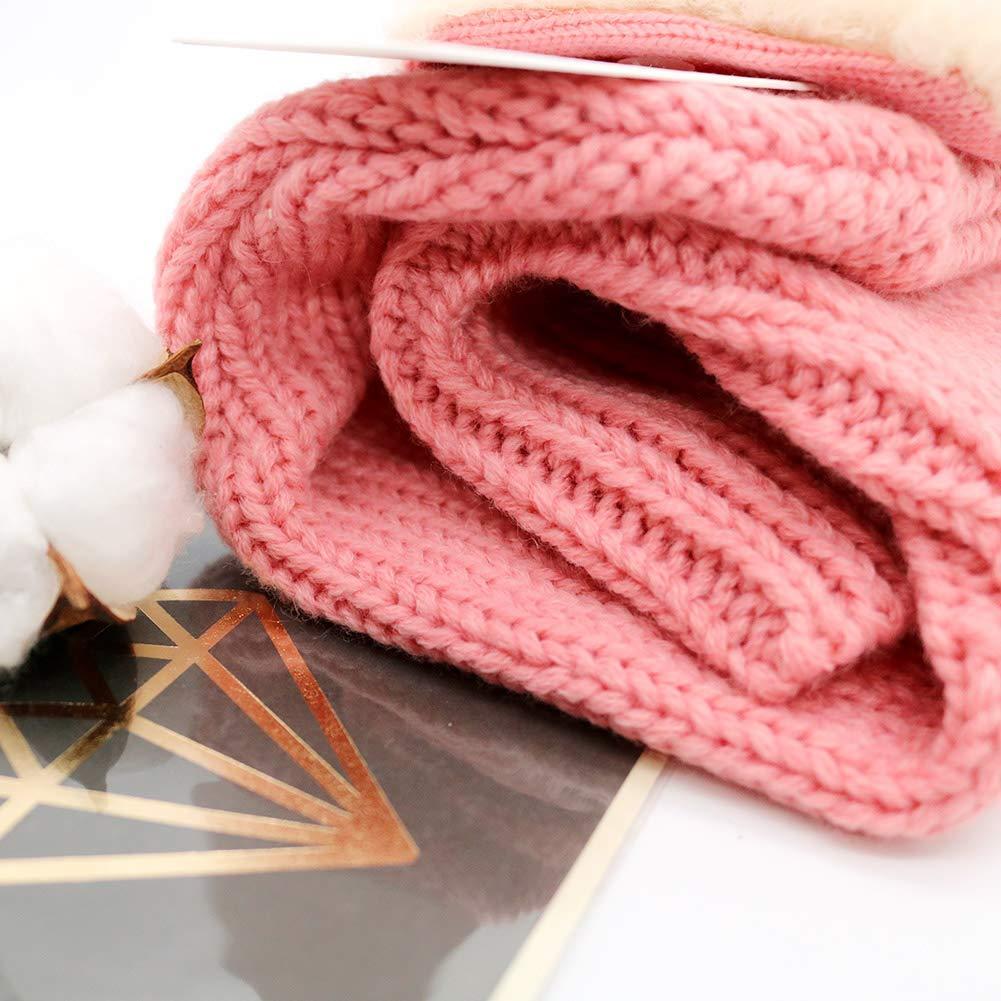 Idea Regalo di Natale Marrone Brown Taglia Unica iHomey Cappello Invernale con paraorecchie e Scaldacollo per Bambini di 6-36 Mesi Lavorato a Maglia Unisex