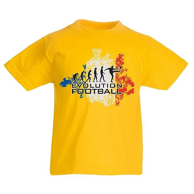 lepni.me Camiseta Niños/Niñas Fútbol de evolución - Francia, Campeonato de Rusia