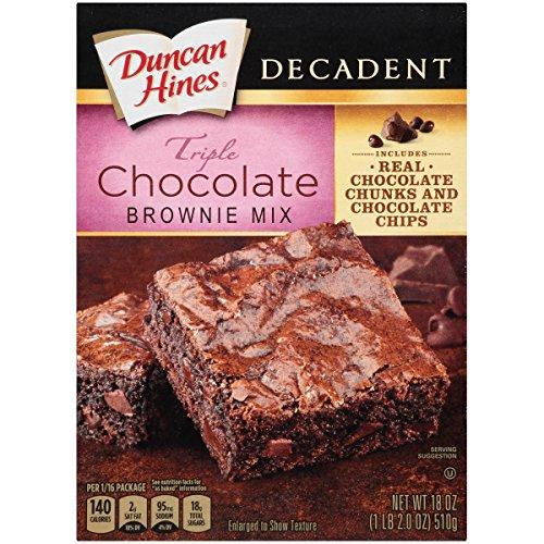 Duncan Hines Decadent Brownie Mix, Triple Chocolate, 18 oz ()