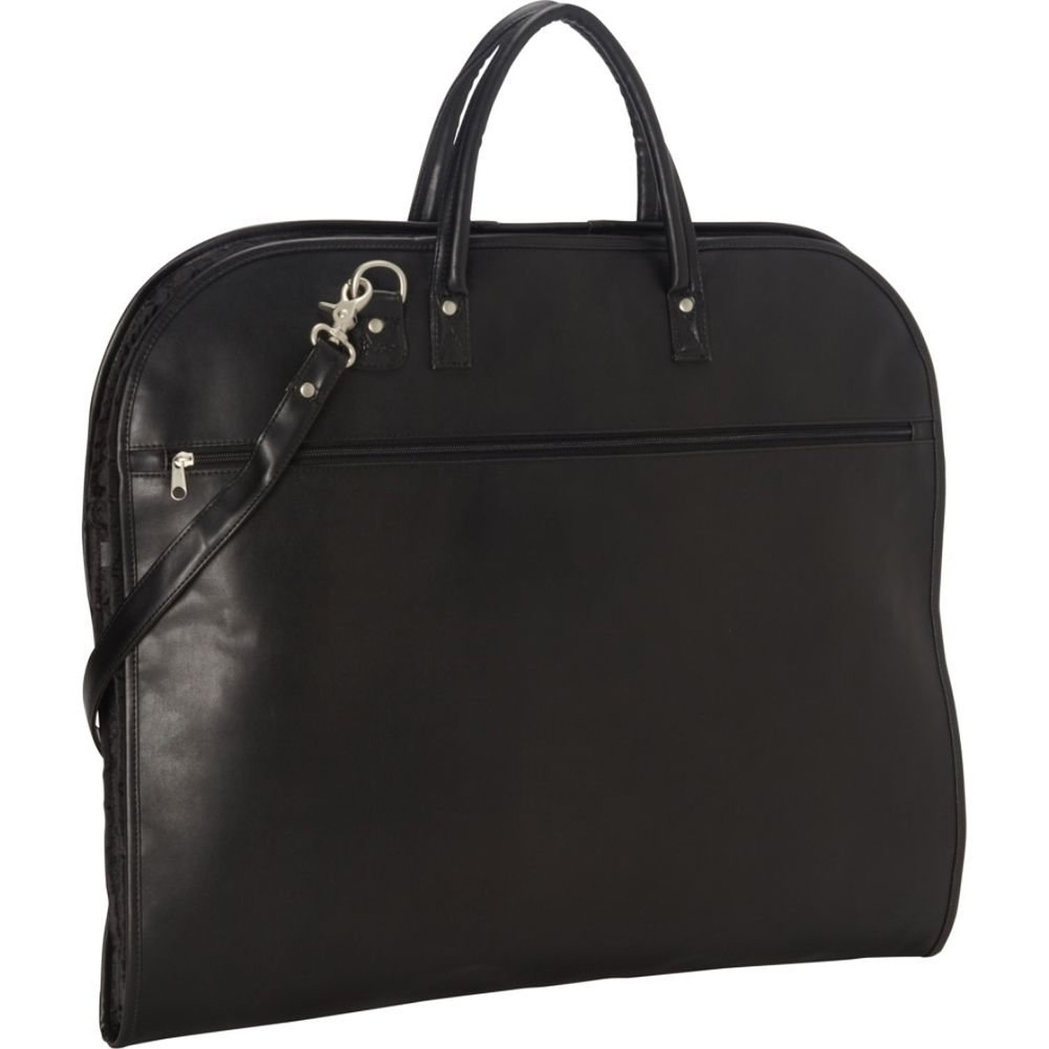 Royce Leather Garment Bag Suitcase in Leather, Black