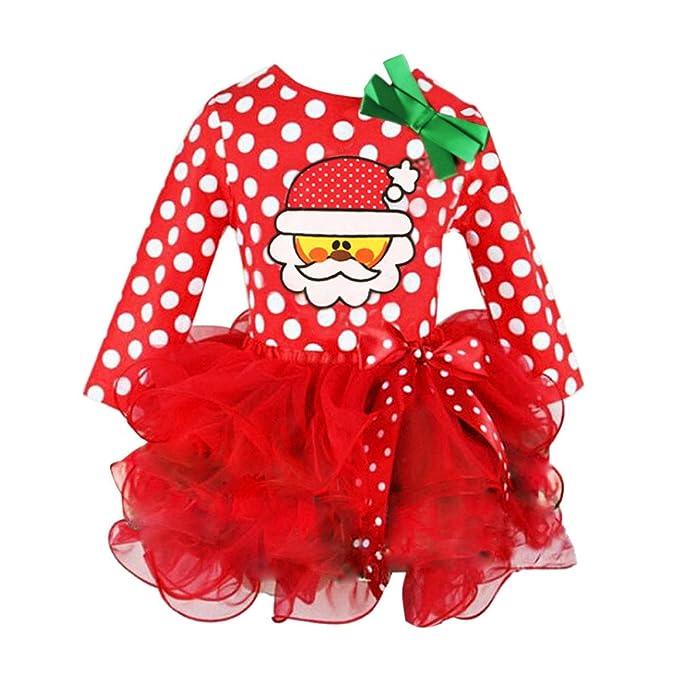 ddd53fd24354 Santa Claus Polka Dot bedruckt Bogen Spitze Seite Kuchen Rock ...