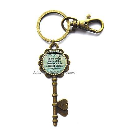 Amazon com : I Have Always Imagined Book Quote Key Key Ring
