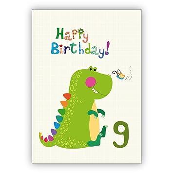 Toller Kinder Gluckwunsch Als Geburtstagskarte Zum 9 Geburtstag Mit