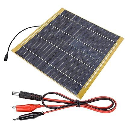 Alomejor 15W 18V Panel Solar Batería Solar Maintaner Barco ...