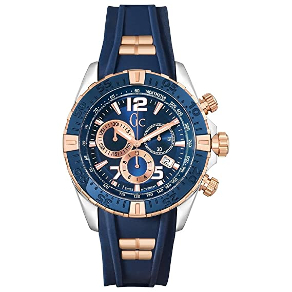 Guess - Gc by reloj hombre sport chic collection sport racer cronógrafo y02009g7: Amazon.es: Relojes