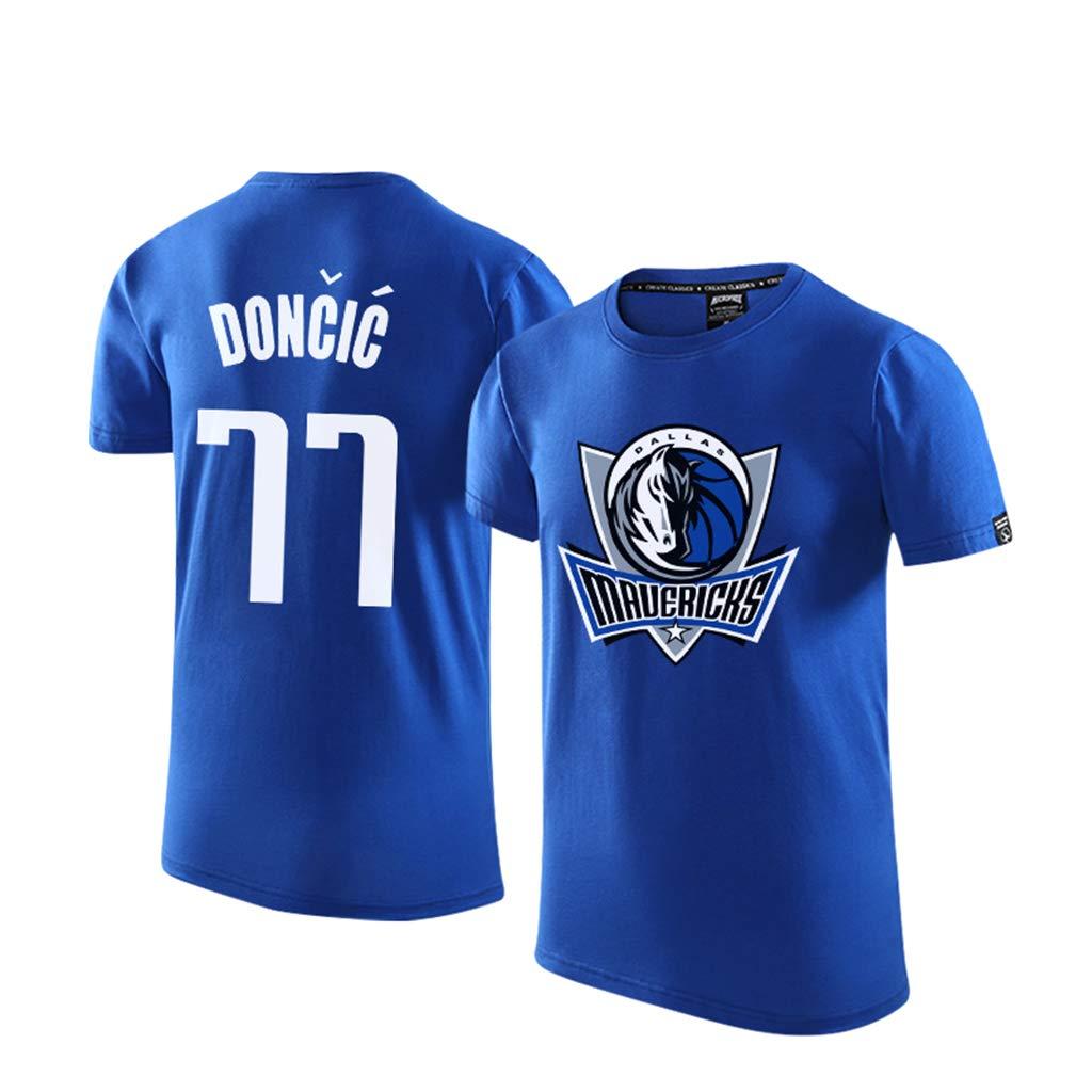 Basketball Sport Tee Tops Dallas Mavericks l/ässige Kurzarm T-Shirt Herren Jersey luka Doncic #77 M/änner f/ür Tshirt