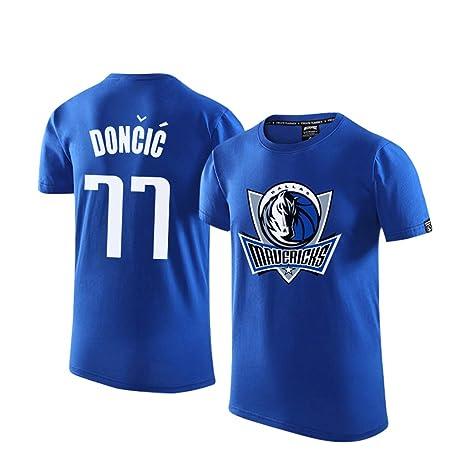 3.Dallas Mavericks informal de Manga Corta Camiseta, Hombres ...