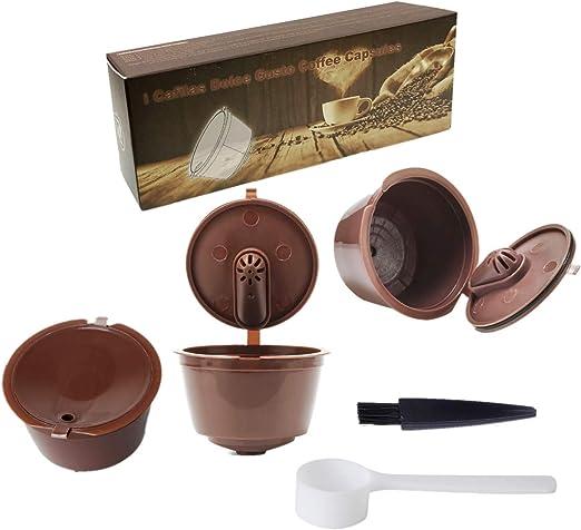 JZK 3 x Filtros cápsulas de café Reutilizable para cafetera Dolce ...