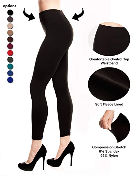e71f91afc236b Stylish and Fit Body Black Leggings Sale, Fleece Lined Leggings for Women,  Seamless,