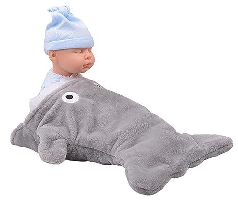Good Night - Saco de dormir de peluche de tiburón de dibujos animados