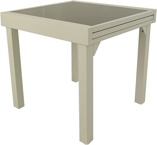 Mesa para jardín Extensible de 80 cm a 160 cm, Aluminio Color ...