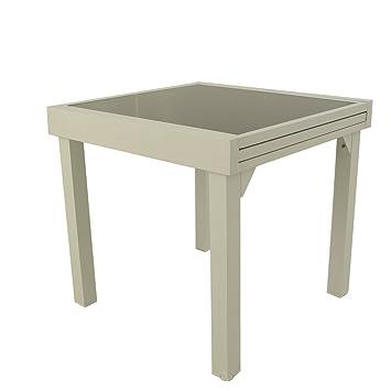 Table de Jardin, Extensible, de 80 cm à 160 cm de Longueur ...