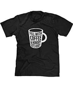 Blittzen Mens Fill with Coffee & Nobody Gets Hurt, S, Black