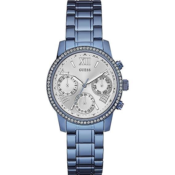 21849679cfb3 Guess Reloj analogico para Mujer de Cuarzo con Correa en Acero Inoxidable  W0623L4  Amazon.es  Relojes