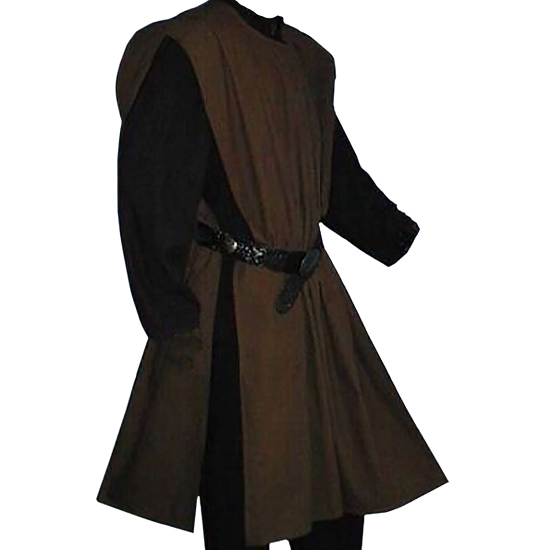 dunkelbraun Freesize 1491 Mittelalter Waffenrock einfarbig