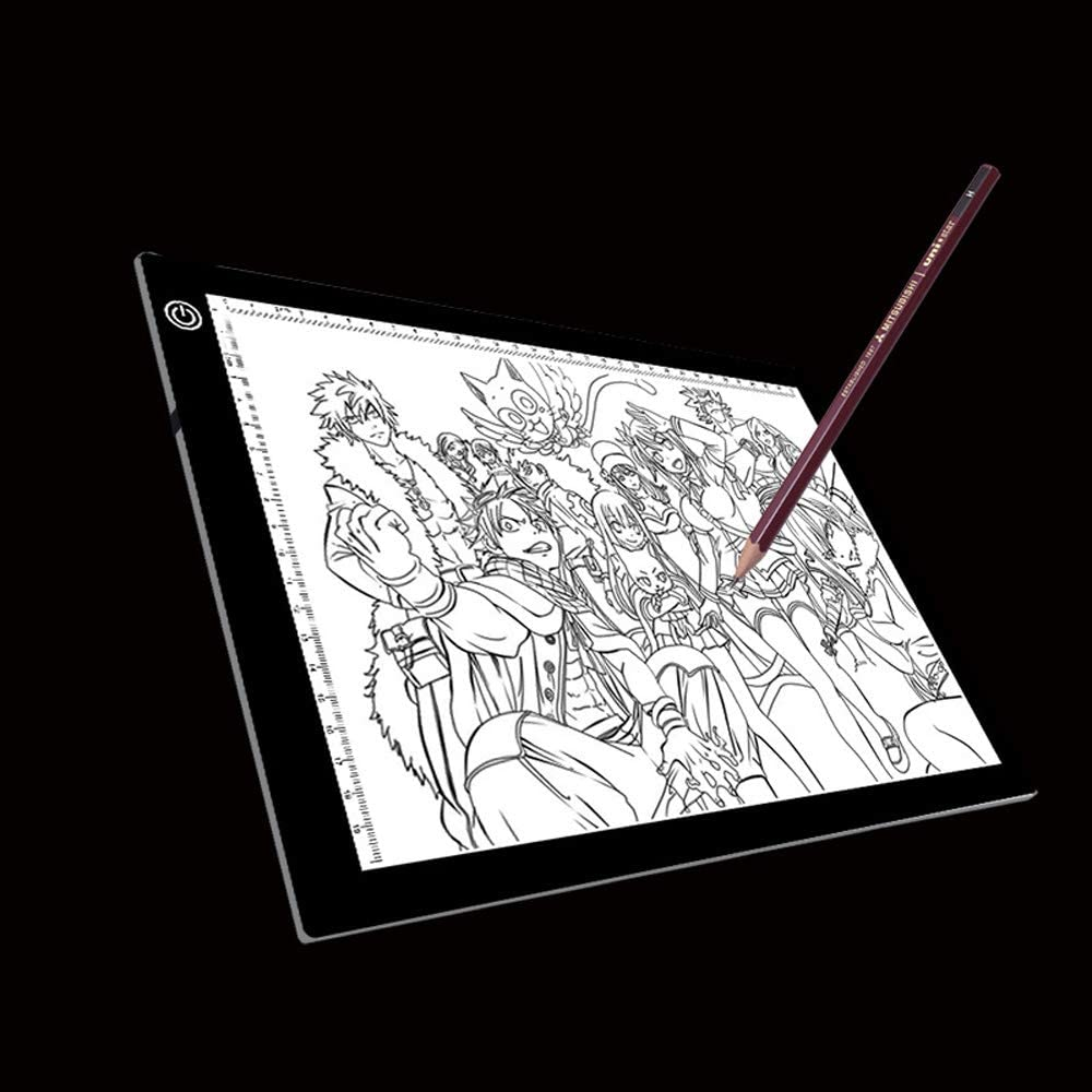 Electronics Accessories A4 Size 5W 5V LED Three Level of Brightness Dimmable Acrylic Copy Boards for Anime Sketch Drawing Sketchpad Size:240x360x5mm with USB Cable /& Plug