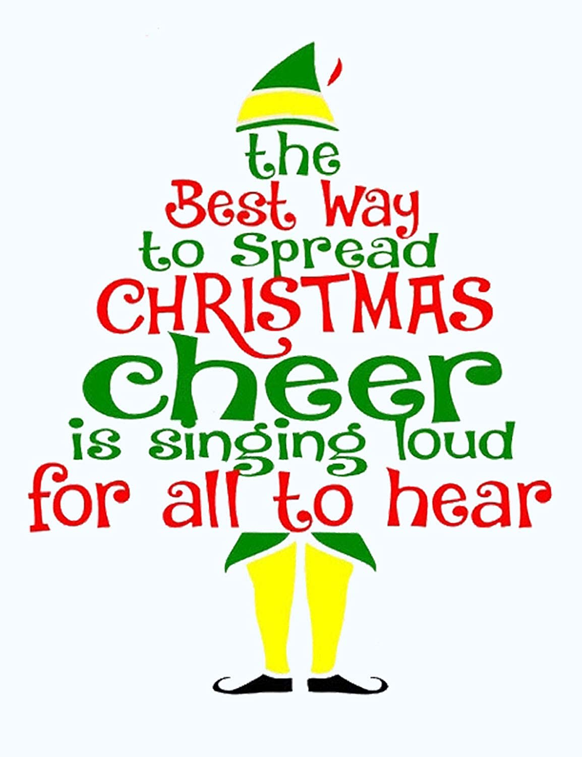 a4daa239 Amazon.com: Nlife Women The Best Way to Spread Christmas Cheer is Singing  Loud for All to Hear T-Shirt: Clothing