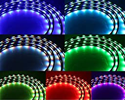 DIYAH 7 Color LED Under Auto Car Underglow System Neon Lights Kit Strip With Wireless Remote Control 2 x 36\