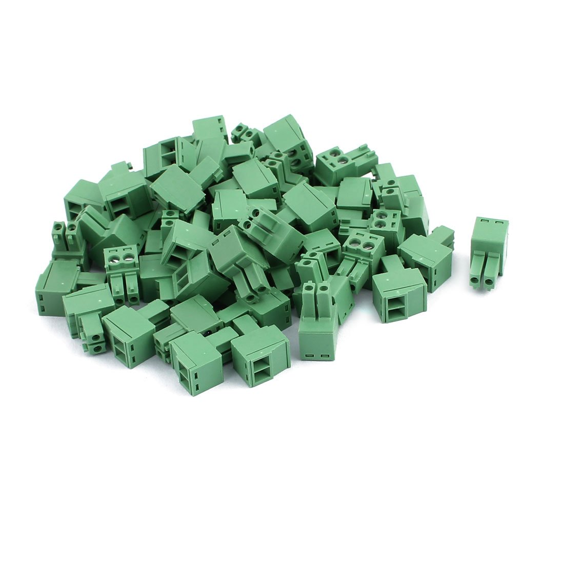 uxcell 50Pcs 300V KF2EDGK 3.5mm Pitch 2-Pin PCB Screw Terminal Block Connector