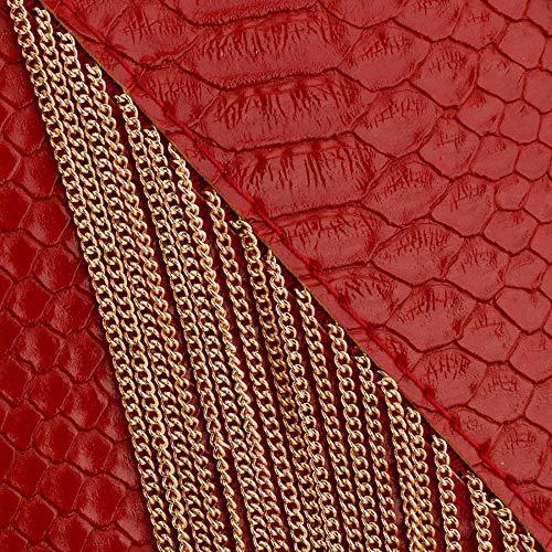 Rojo Talla Única Cartera De Beuway Mujer Mano Negro Para qwpFX1xn