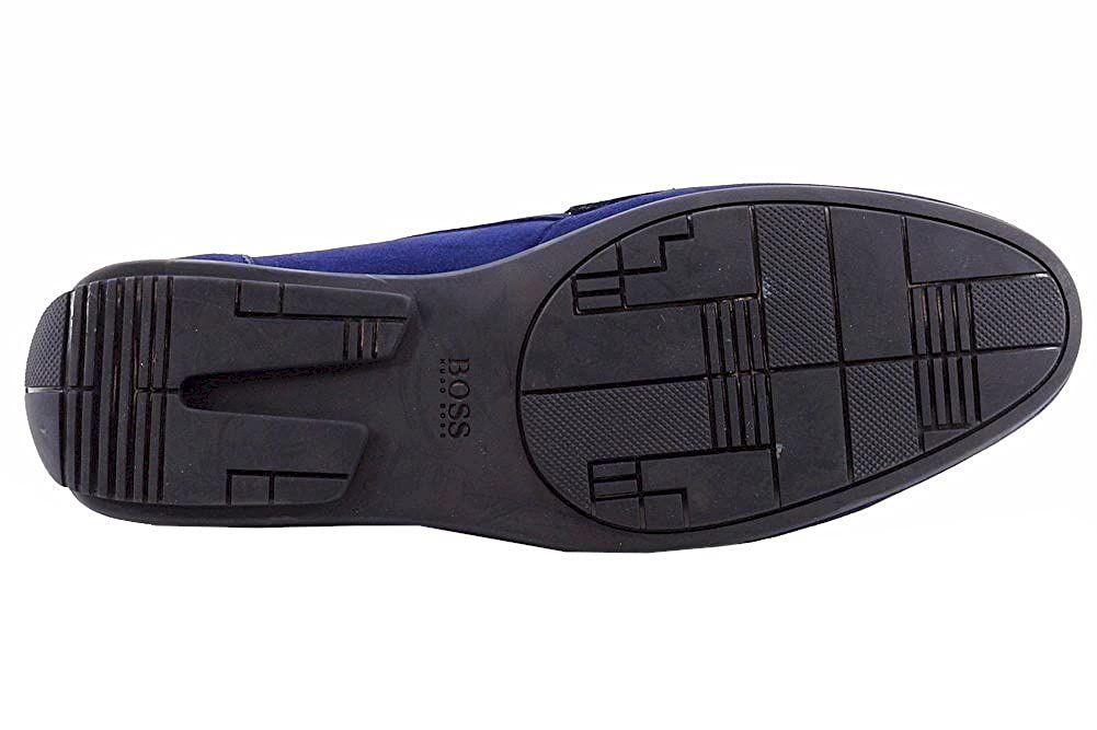 c72d23c4c3354 Amazon.com: Hugo Boss Men's Flarro Fashion Medium Blue Suede ...