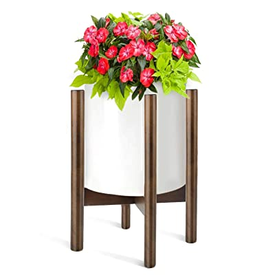 Plant Stand, Fixget Detachable Plant Display Shelf, Mid-Century Wood Flower Plant Pot Holder Rack Decor for Indoor and Outdoor : Garden & Outdoor