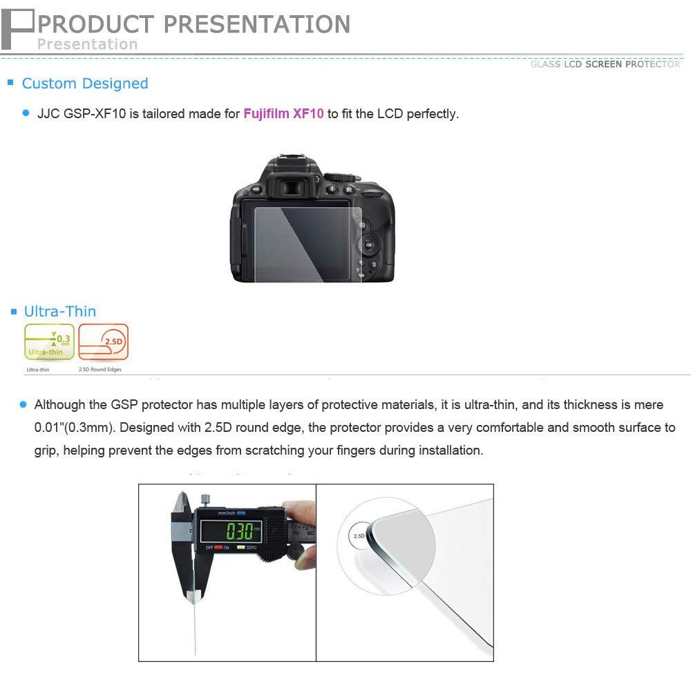JJC Ultra-sottile Schermo LCD in Vetro Ottico per Fujifilm XF10