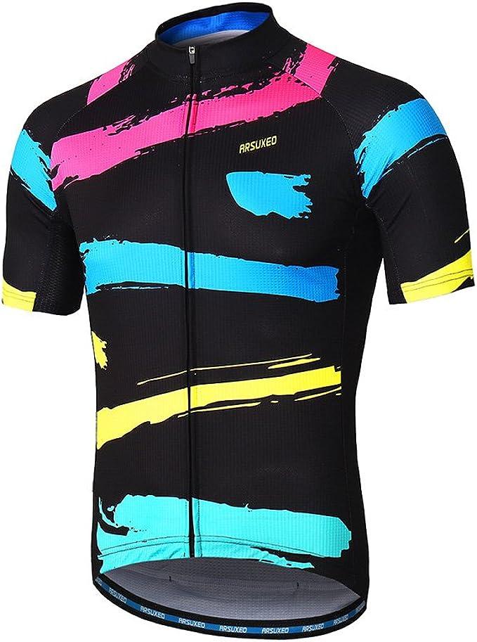 Maglia a maniche lunghe Zipper Bike Camicia da Maglia da ciclismo da uomo