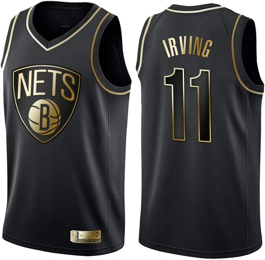 TAMA/ÑO: S-XXL Mingui Trading NBA Camiseta,Camiseta de Baloncesto para Hombre,Mujeres Jersey Hombre Brooklyn Nets 11# Irving Jerseys Transpirable Bordado Baloncesto Swingman Jersey