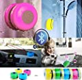 JuSp(TM), Mini Wireless Waterproof Bluetooth Shower Speaker Hands Free Speaker for iPhone /iPad / Cellphones