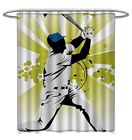 Anhuthree Basketball Shower Curtain Customized Collection Of Vintage Rubber Stamp Print Illustration Players Fabric Bathroom