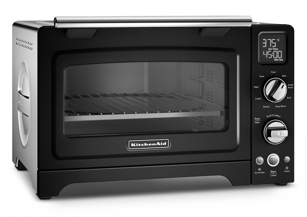 KitchenAid KCO275OB Convection 1800W Digital Countertop Oven, 12'', Onyx Black by KitchenAid