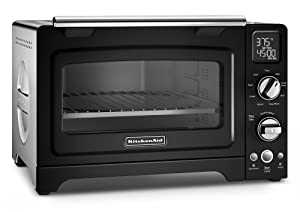 "KitchenAid KCO275OB Convection 1800W Digital Countertop Oven, 12"", Onyx Black"