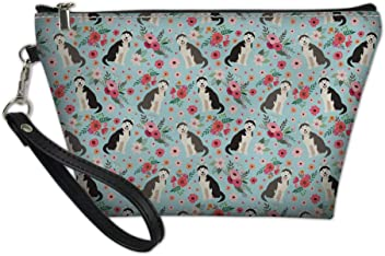 2fe3d6e07b0e Nopersonality Women Large Capacity Cosmetic Bag Funny Floral PU Leather  Make up Bag for Traveling School