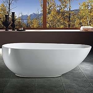 Akdy Bathroom White Color Freestand Acrylic Soaking Bathtub Az-f297