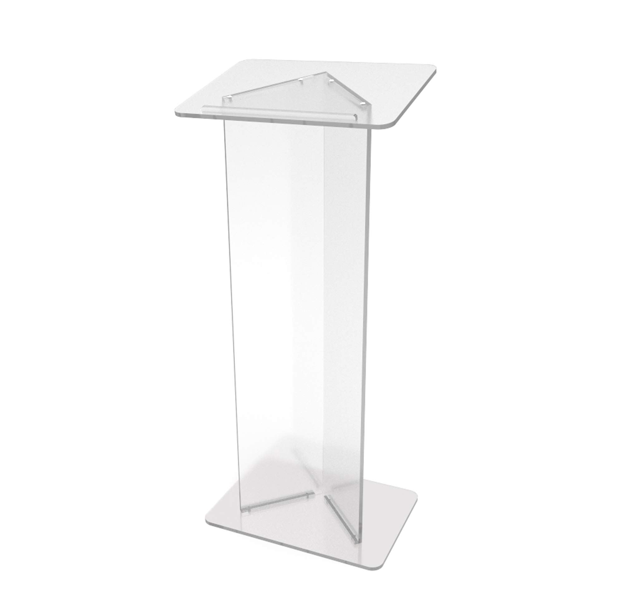 FixtureDisplays Podium Clear Ghost Acrylic Lectern or Pulpit - 15240 Easy Assembly Required15240 15240