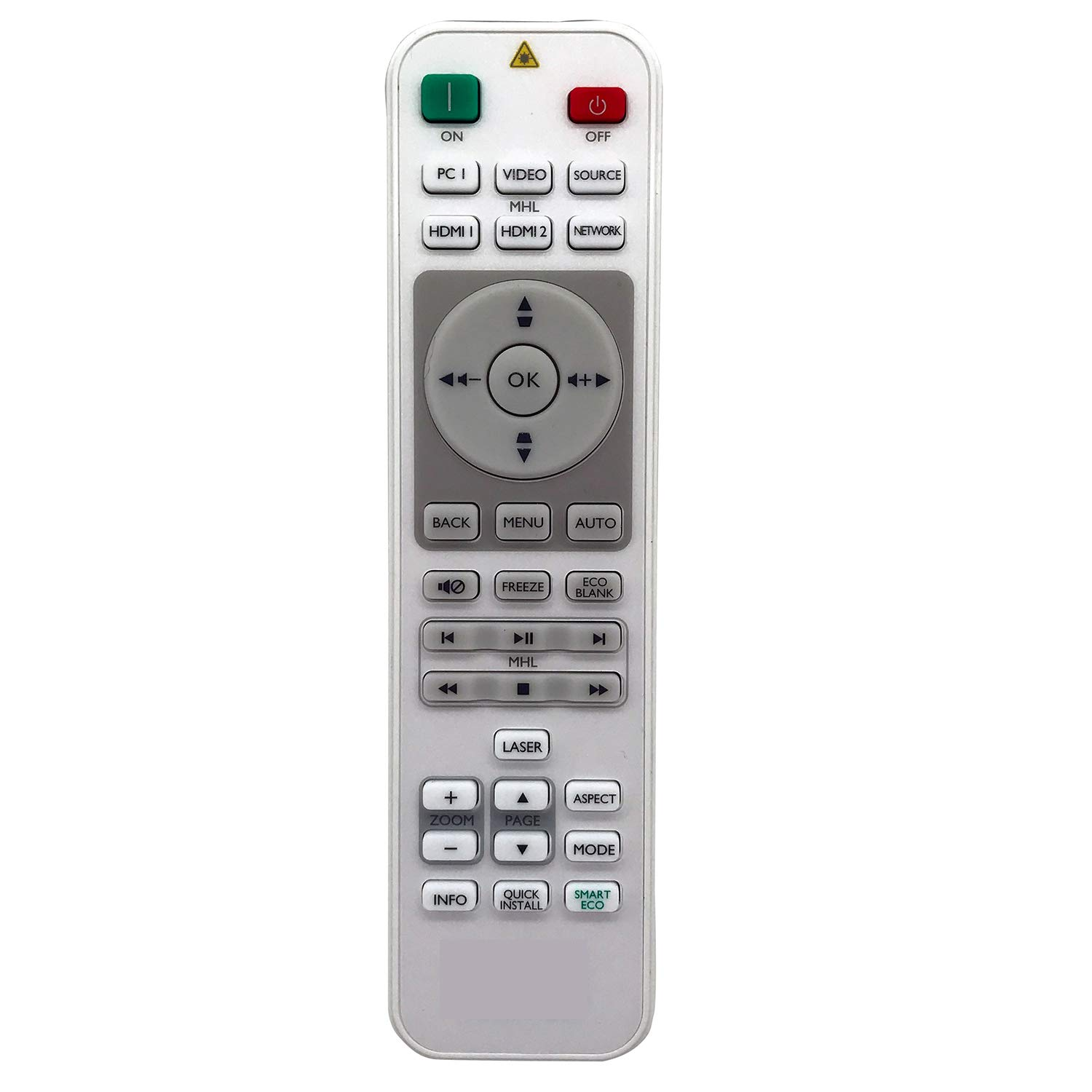 ESolid RCE013 / 5J.JGM06.001 Replacement Remote Control for BenQ MH733 MW732 MW809ST MW826ST MX731 MX808PST MX808ST MX825ST Projectors and More by ESolid