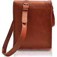 Bolso de cuero para iPad Tablet – Bolso de cuero – Bolso pequeño para iPad para hombres y mujeres (11 pulgadas, marrón)