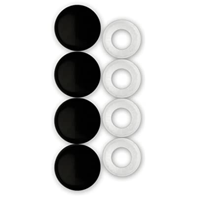 Cruiser Accessories 82650 License Plate Frame Fastener Caps, Black: Automotive