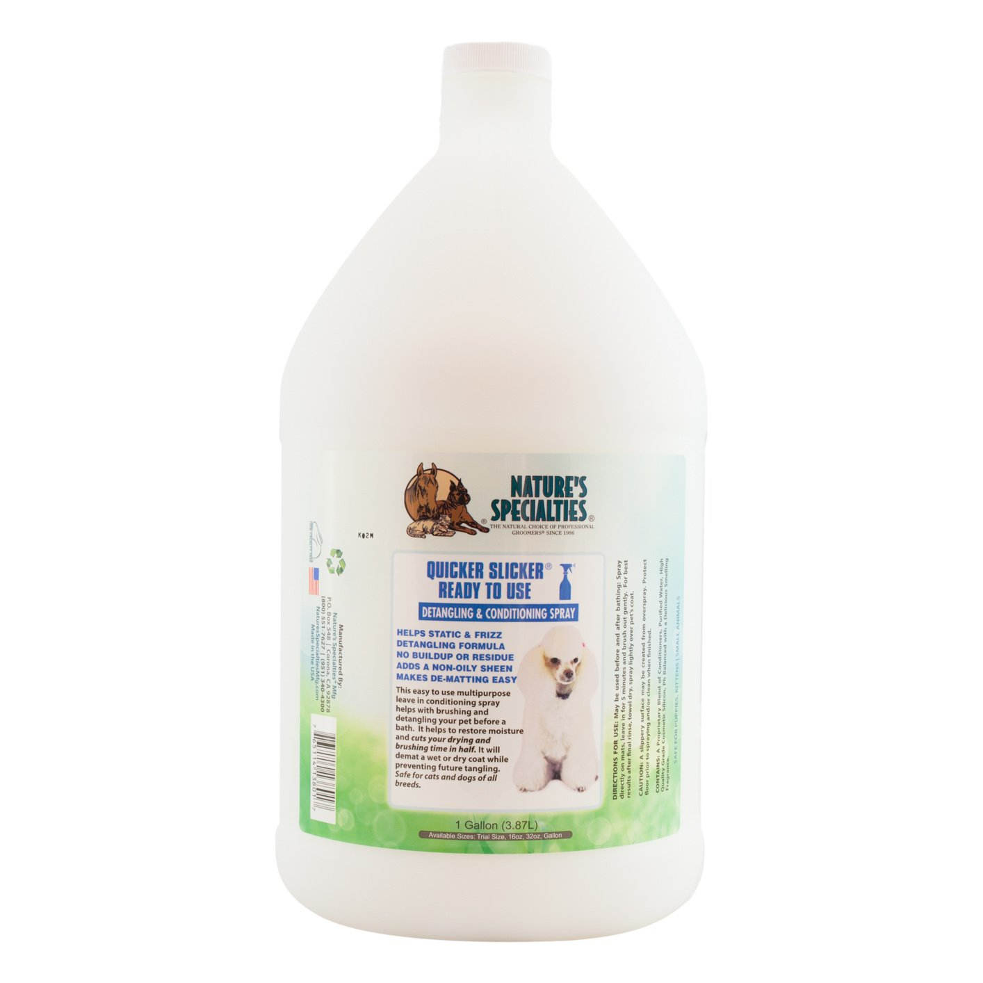 Nature's Specialties Quicker Slicker Ready to Use Pet Conditioner by Nature's Specialties Mfg