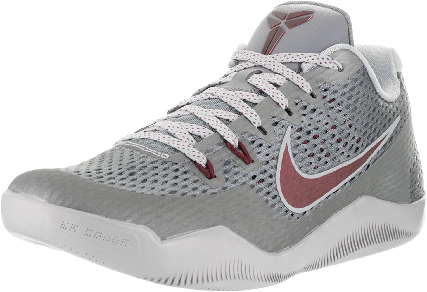 Zapatillas de baloncesto Nike Mens Kobe XI Cool Gray / Team Red ...