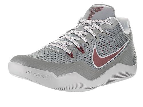 7f80a958f281 Nike Men s Kobe Xi Cool Grey Team Red Wolf Grey Basketball Shoe (10.5)
