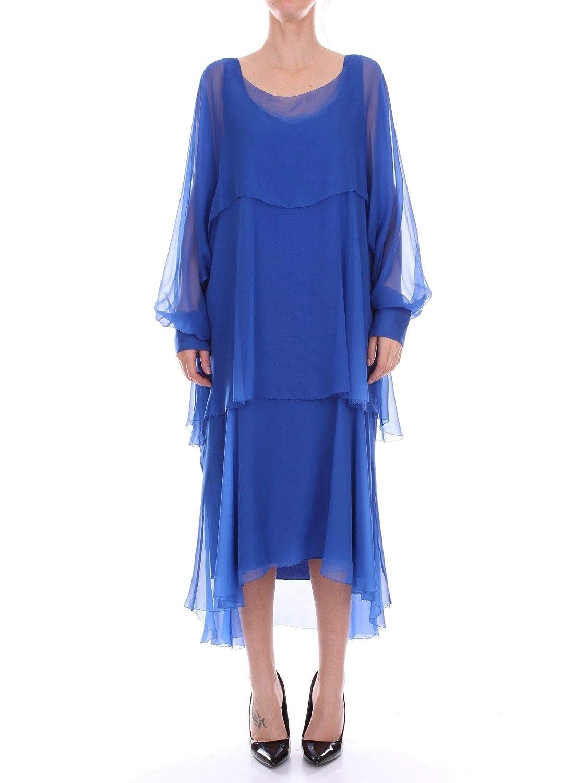 Alberta Ferretti Women's A045216140296 bluee Silk Dress
