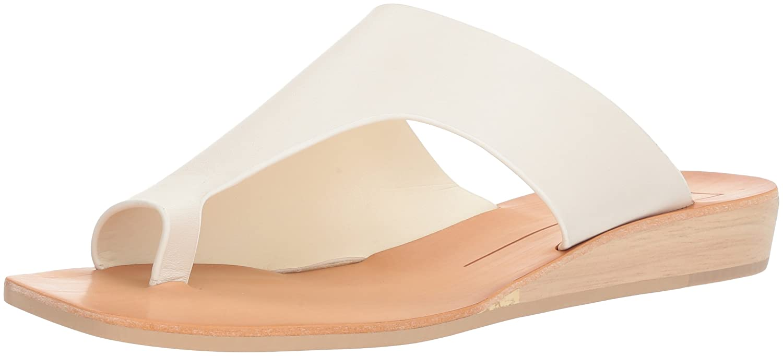 Dolce Vita Women's Hazle Slide Sandal B07B2BBNKY 6.5 B(M) US|Off White Leather