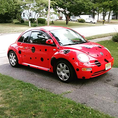 Black Spots Dots 50 Set decals stickers 6 year no fade Ladybug costume for Car Any VW Volkswagen Beetle Bug Mini ()