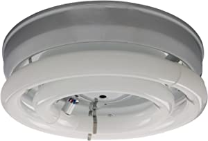 "Sunlite 41312-SU 12"" Classic Ceiling Fixture, Uses 2 Fluorescent Circline Bulbs (Not Included), 120 Volts, for Kitchens, Breakrooms, Laundry Rooms, Closets, Hallways, UL Listed, Chrome Finish"