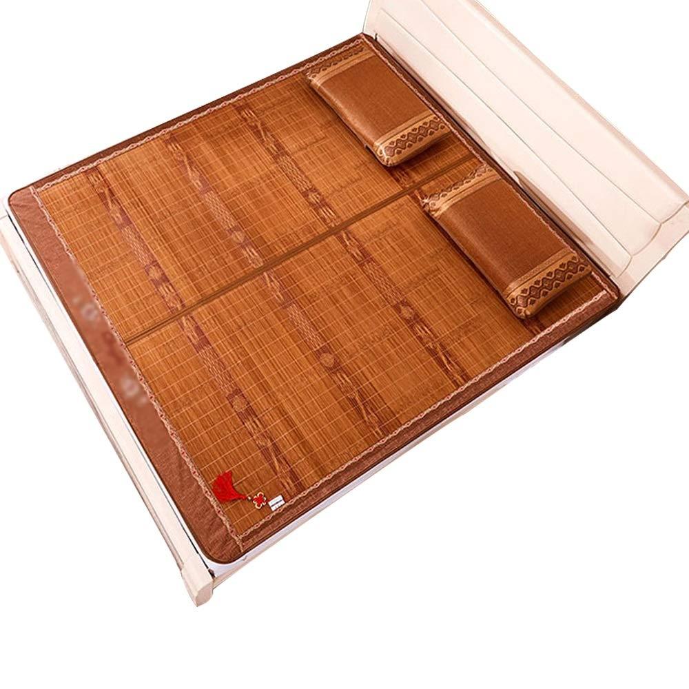 QL サマーマットレス 夏用スリーピングマット - 夏用マットと枕カバー、両面スリーピングマット、冷却用ベッド、涼しい夏用ベッドリネン、折りたたみ式収納庫 から選択可能 竹製マットレス (Size : 1.2x1.9m) B07SQYWYC9  1.2x1.9m