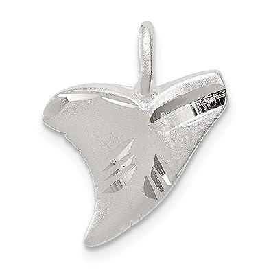 d3d2e6080ad Superbe Argent sterling 925 Argent sterling Coupe diamant Pendentif dent de  requin est livré avec un