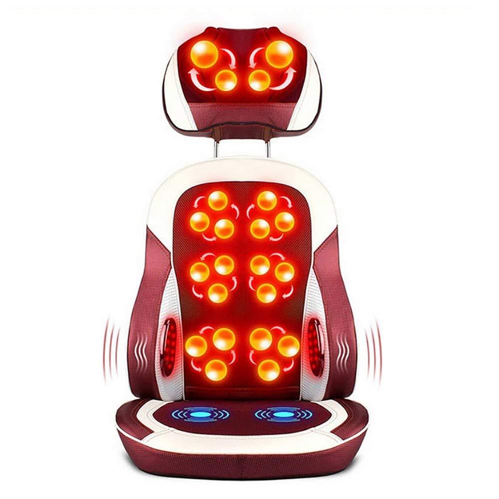 快適な指圧マッサージマッサージシートクッション、全身腰痛緩和のためのマッサージチェアパッド、家庭用またはオフィスチェア用電気ボディマッサージ B07SMSQPT3 White