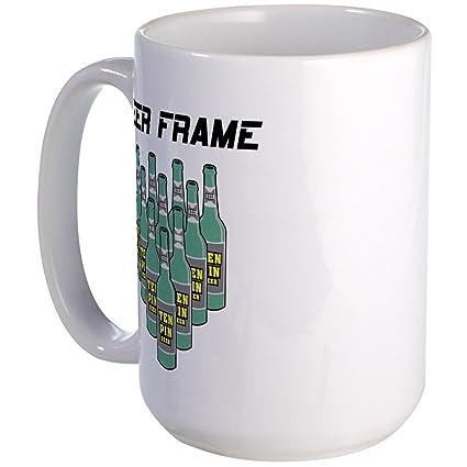 Amazon.com: CafePress - Beer Frame Bowling Large Mug - Coffee Mug ...